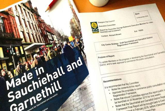 DRAFT SAUCHIEHALL AND GARNETHILL REGENERATION FRAMEWORK… NEARLY!