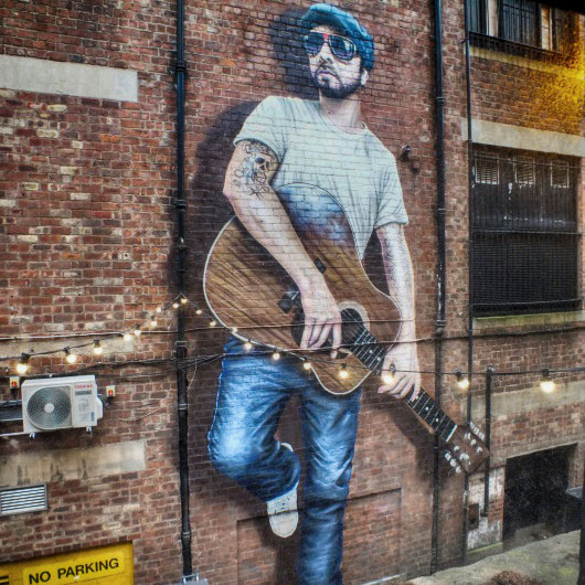 """The Musician"" by Rogue, in Sauchiehall Lane"