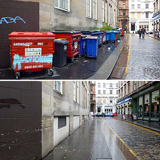North Court Lane - before and after