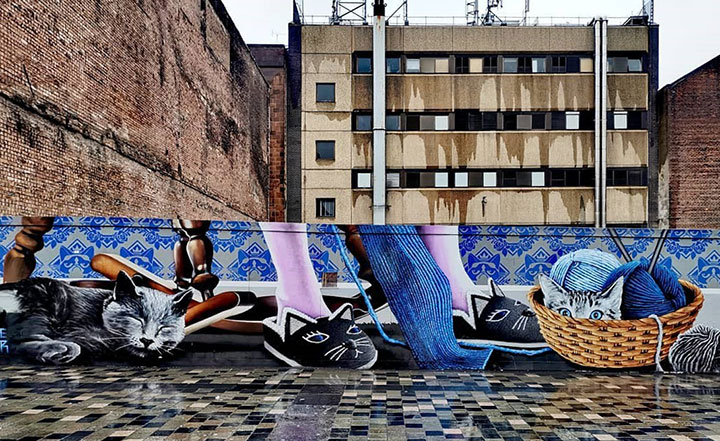 Crazy Cat Lady by Rogue Oner – located on Sauchiehall Street
