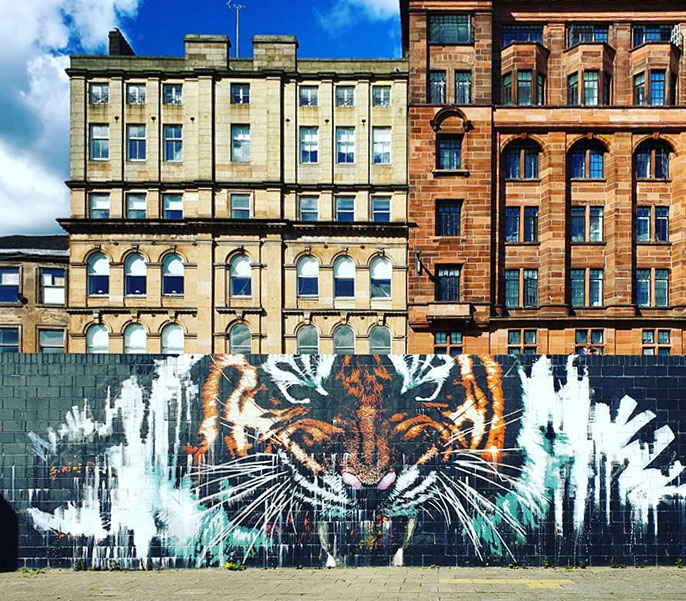 Glasgow's Tiger by Klingatron and Art Pistol – Clyde Street