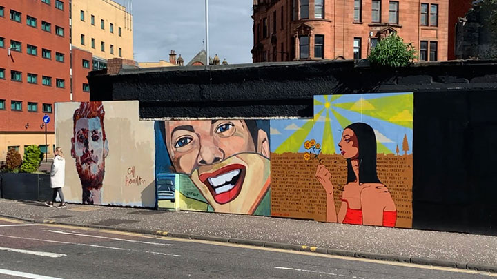 GLASGOW CITY CENTRE MURAL TRAIL UPDATE